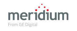 meridium from GE digital logo gray and red