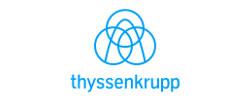 thyssenkrupp logo light blue