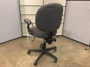 Gray task chair