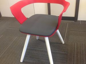 Red lobby chair
