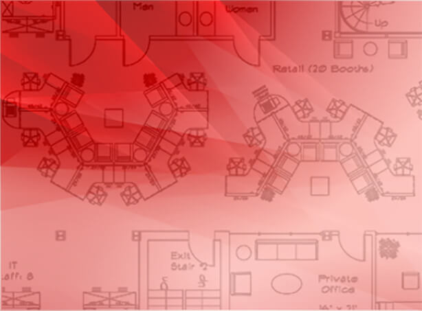 design planning stock with red overlay