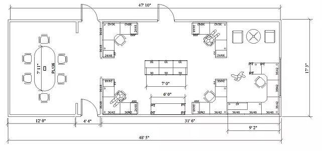 Office design layout