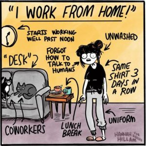 Comic about working from home